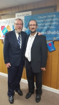 Rabbi YY and Rabbi Prijs at Shabbat UK 2017