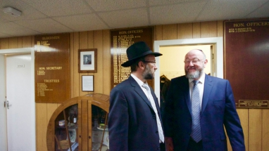 Meade Hill Chief Rabbi and Rabbi Prijs